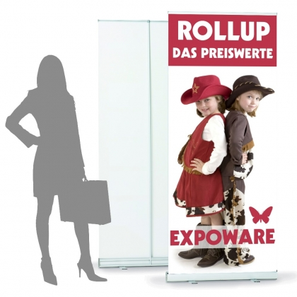 Budget Rollup inkl. Druck 80 x 200 cm